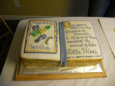 Book Cake for a Baby Shower