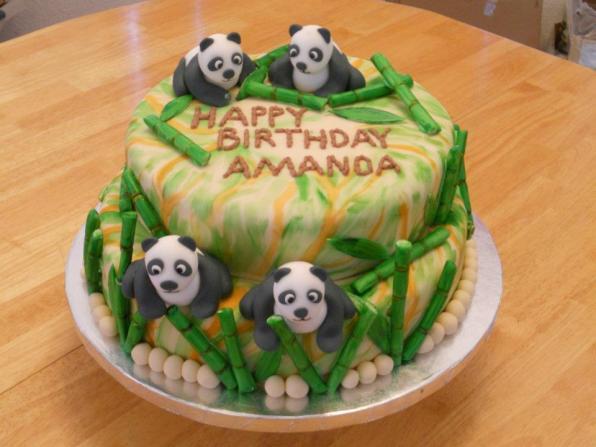 Panda Cake with Bamboo