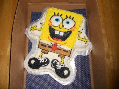 Spongebob Squarepants using a Wilton shaped pan
