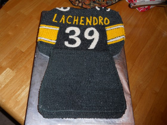 Steelers Football Jersey Cake