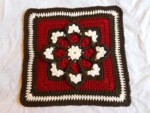 "stained glass 12"" afghan square"
