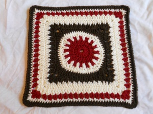"sundial 12"" afghan square"