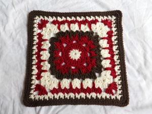 "12"" square, crochet, muggins"