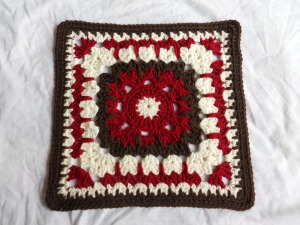 "12"" square, crochet, muggins"