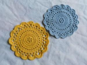 crochet, size 10 coaster