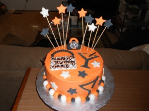 orange martini 40th birthday cake