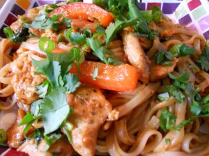 dragon noodles with chicken