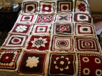 brown red and cream squares