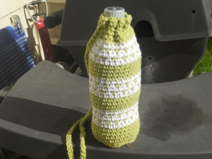 crochet water bottle cover or  carrier