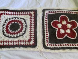 "12"" squares afghan"