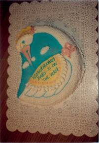 Mother Goose Baby Shower Cake