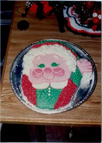 Mrs Claus - using the Santa cake pan