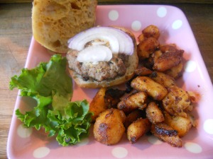 pork sliders with pan roasted potatoes