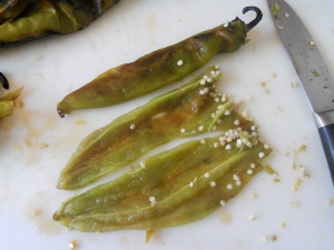 peeled hatch green chiles