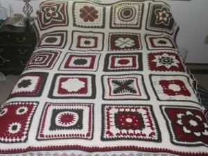 "12"" squares crochet afghan"