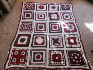 "crochet 12"" blocks afghan"