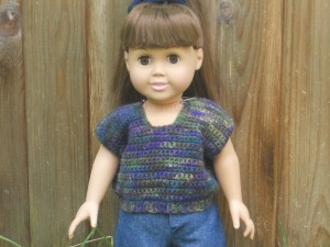 "18"" doll top sweater clothing american girl crochet"