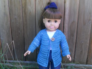 "18"" doll cardigan sweater american girl crochet"