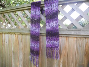 crochet tunnel scarf