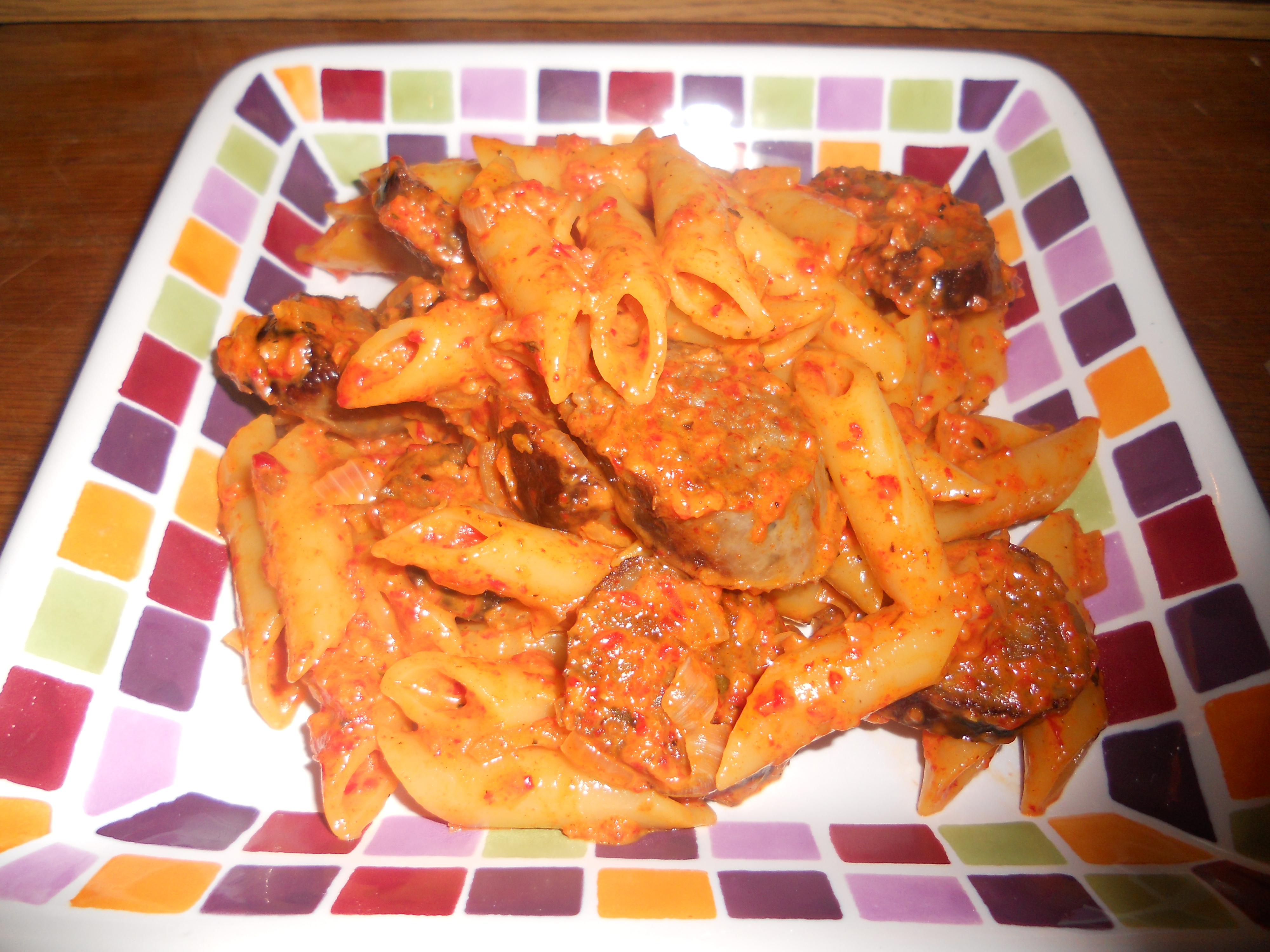 Pasta with Roasted Red Pepper Sauce | A Little of This and a Little of ...