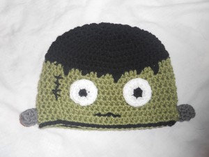 crochet frankenstein monster toddler hat