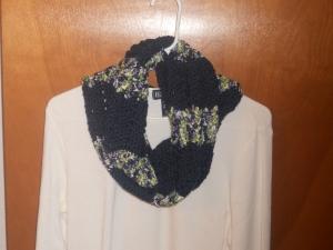 seahawks infinity cowl crochet