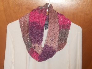 in the pink infinity cowl crochet