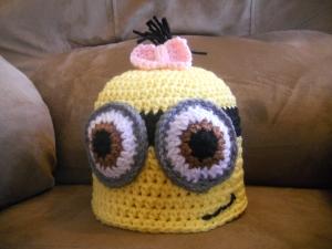 girl minion hat crochet