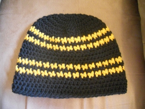 steelers hounds tooth beanie crochet