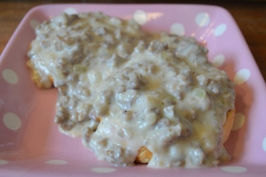 biscuits and sausage gravy2
