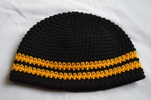 crochet toddler steelers beanie hat