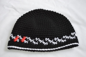 crochet toddler race car checkered flag beanie hat