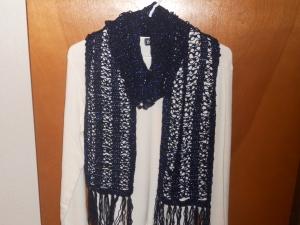 crochet solomon's knot scarf