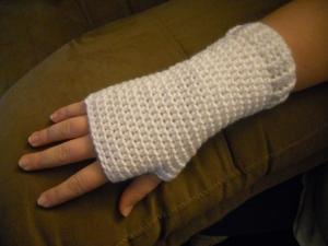 basic crochet fingerless mitts