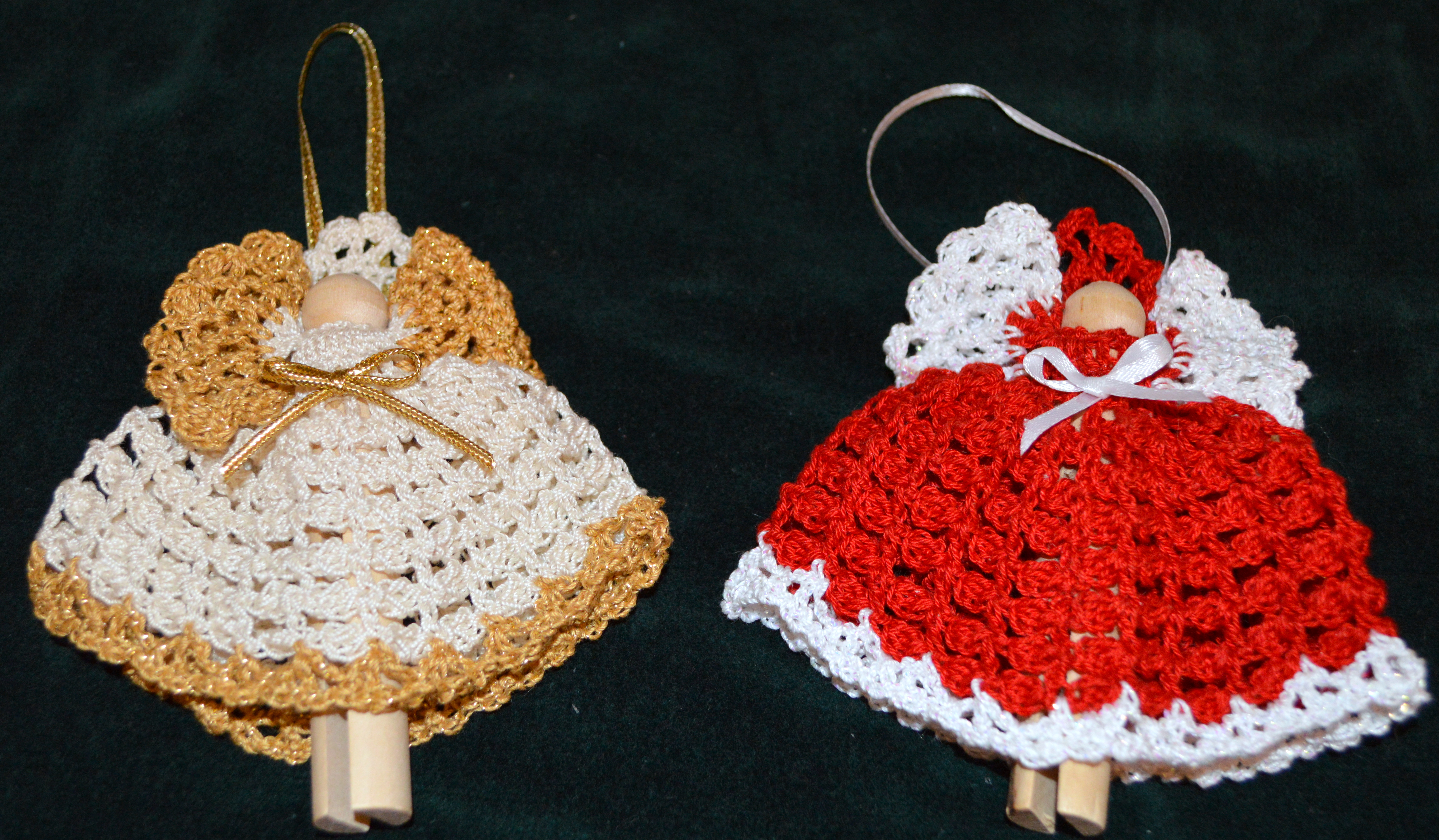 Free Crochet Patterns Clothespin Angels : Crochet Christmas Projects A Little of This and a Little ...