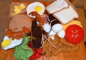 wip play food crochet