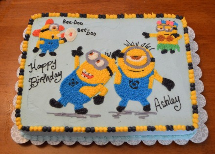 Minion sheet cake
