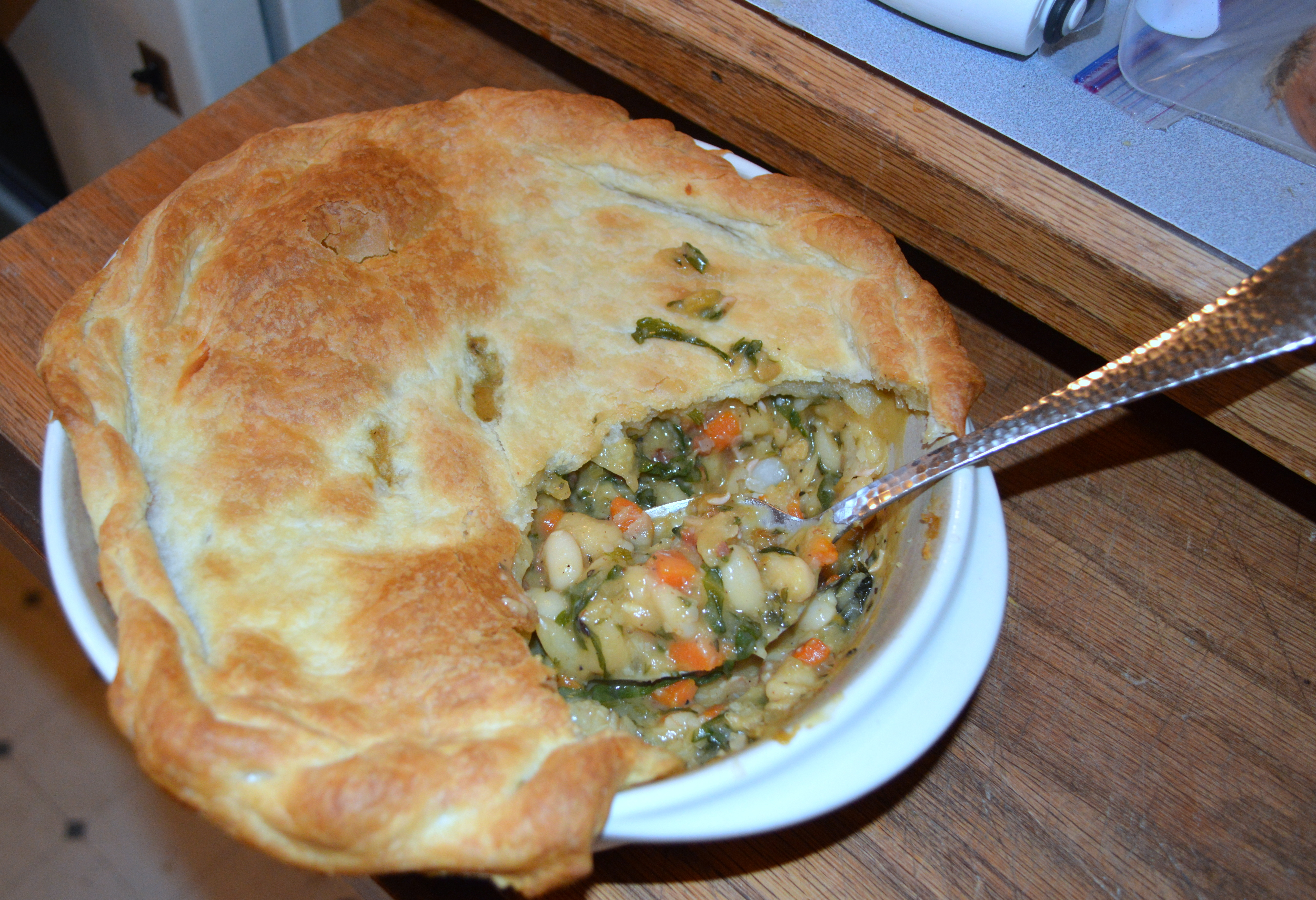White Bean and Swiss Chard Pot Pie | A Little of This and a Little of ...