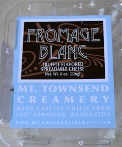 truffle flavored fromage blanc