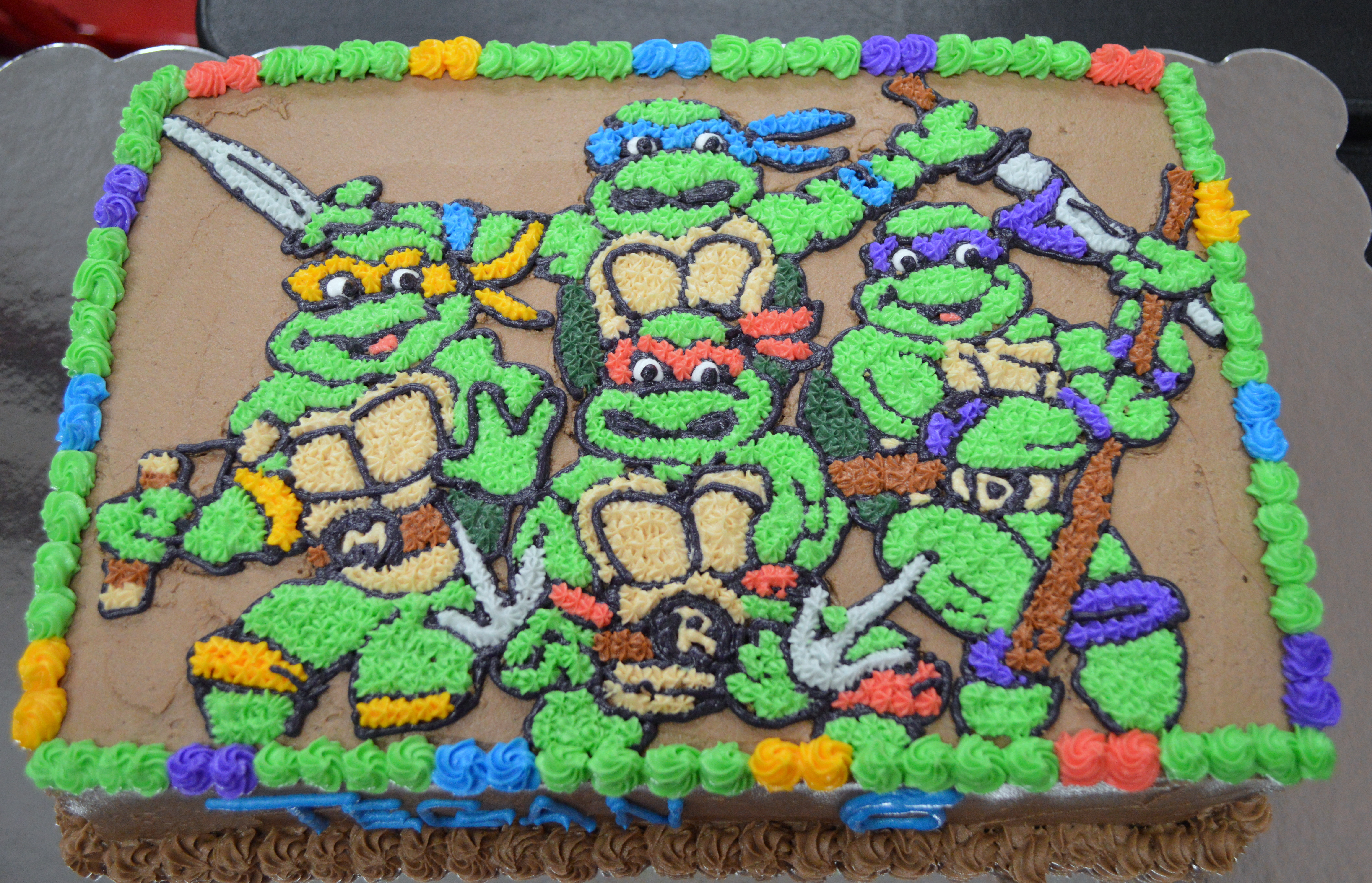 Teenage Mutant Ninja Turtle Cake | A Little of This and a ...
