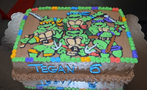 Teenage Mutant Ninja Turtle sheet cake