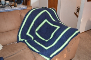 Seahawks colors lapghan