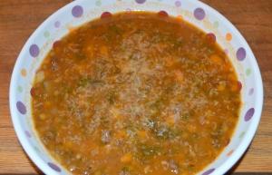 lentil sausage soup 2
