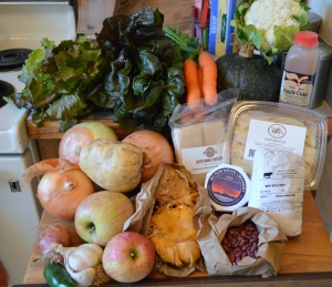 Acme Farms and Kitchen CSA box for October 16th, 2014.