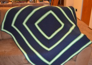 seahawks color picture perfect afghan