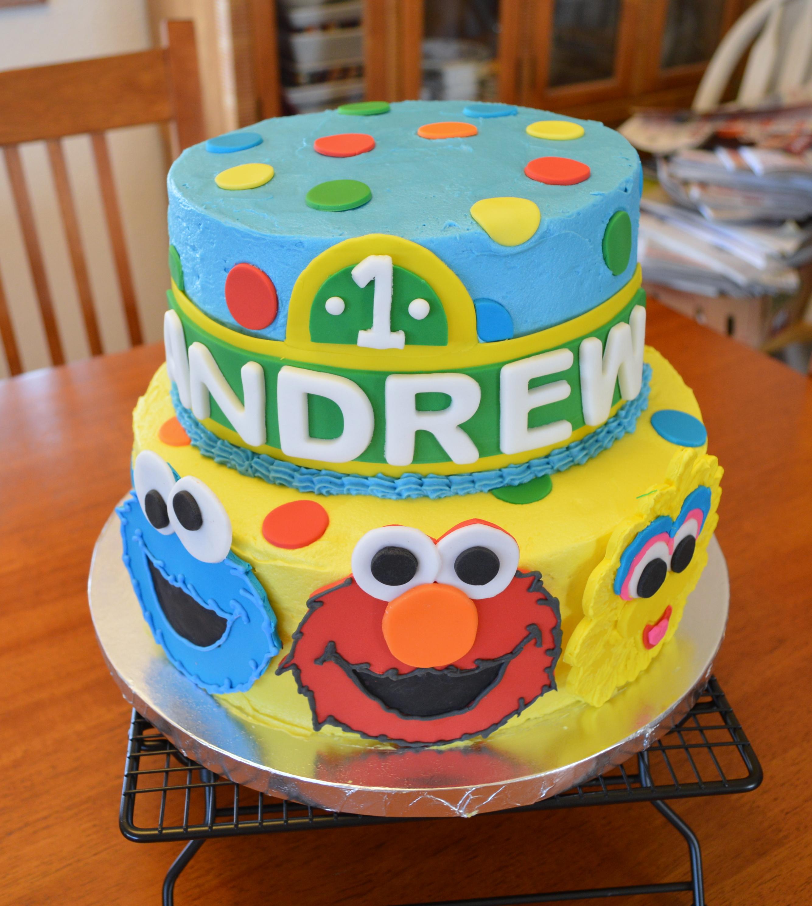 Sesame Street St Birthday Smash Cake