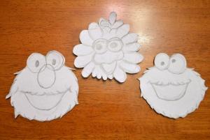 Elmo, Big Bird and Cookie Monster templates