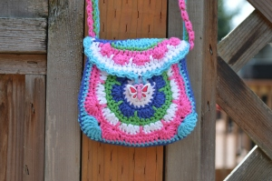 crochet little girl purse
