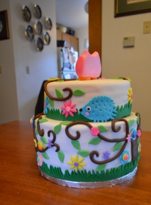 Back side of the cake