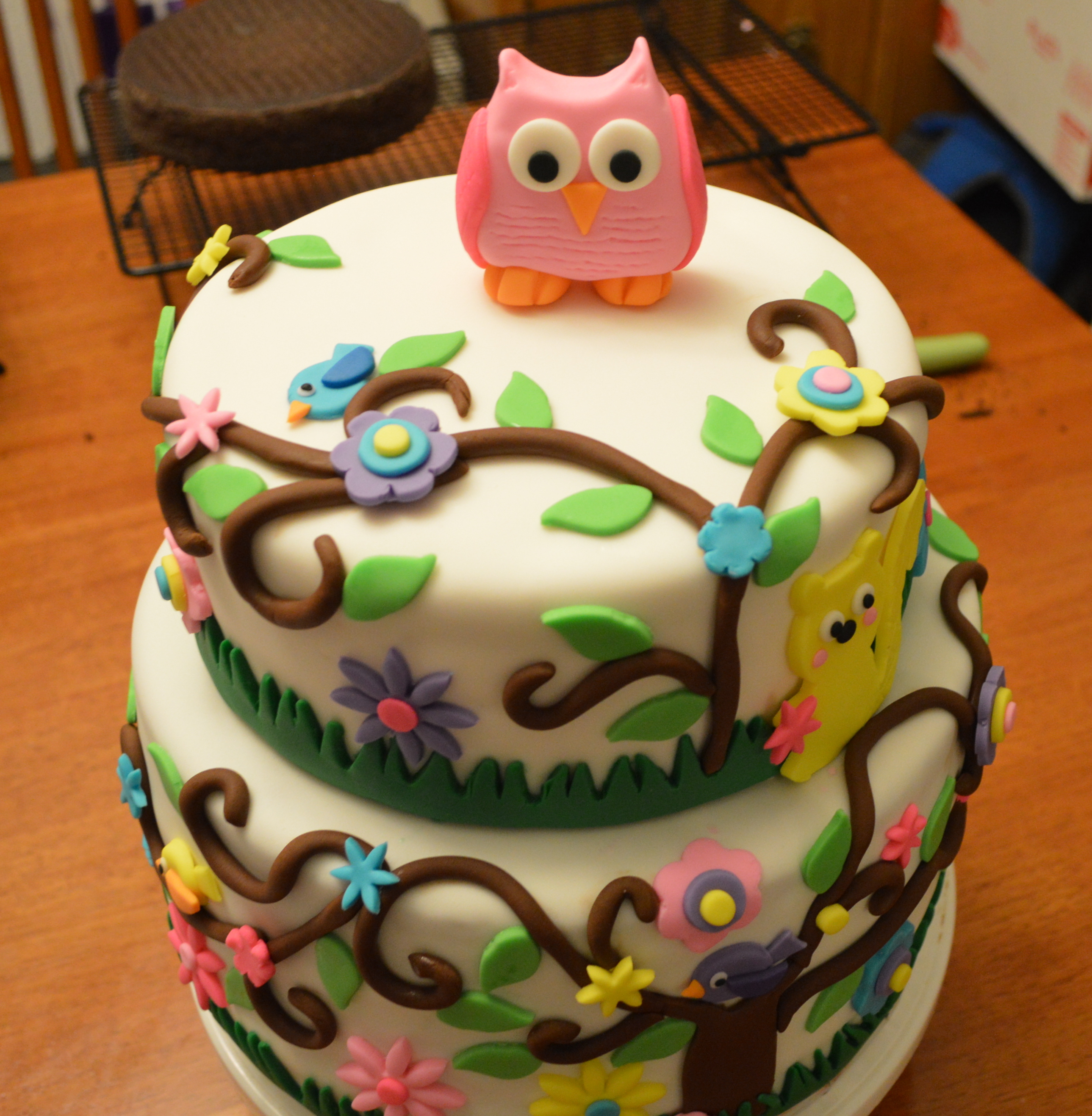 Phenomenal Owl Birthday Cakes A Little Of This And A Little Of That Funny Birthday Cards Online Alyptdamsfinfo